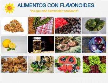 listado alimentos con flavonoides