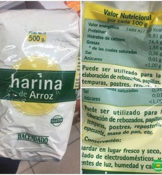 harina de arroz mercadona